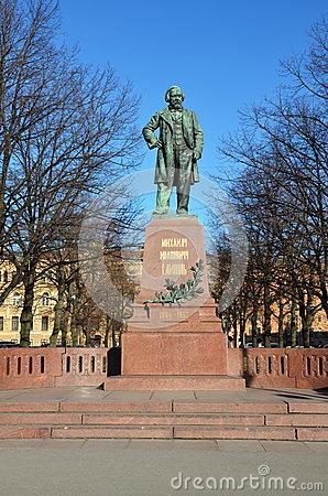 Composer Glinka Monument. Smolensk. Russia. Stock Images.