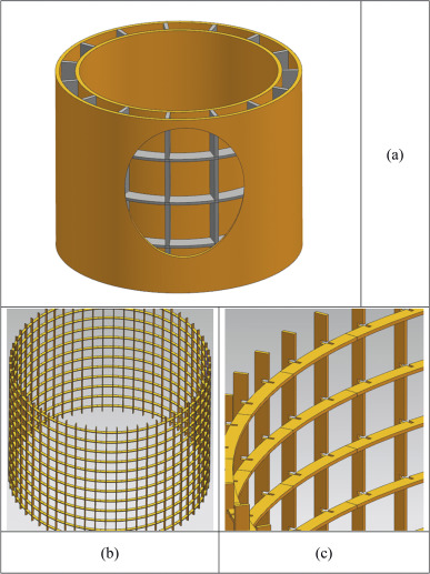Fabrication and testing of composite orthogrid sandwich cylinder.