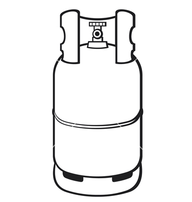 A propane gas cylinder vector by Tribaliumvs.
