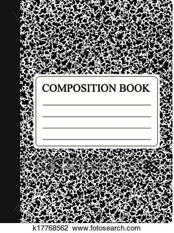 Black Composition Book Clipart.