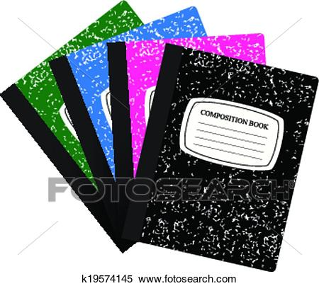 Set Composition Book Clipart.