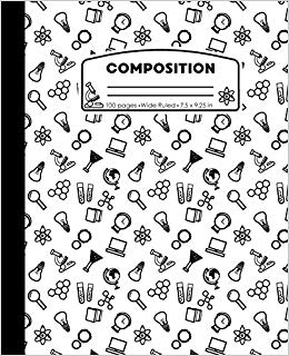 Composition: Science White and Black Composition Notebook for Boys.