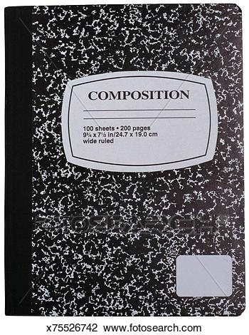 Composition notebook Stock Image.