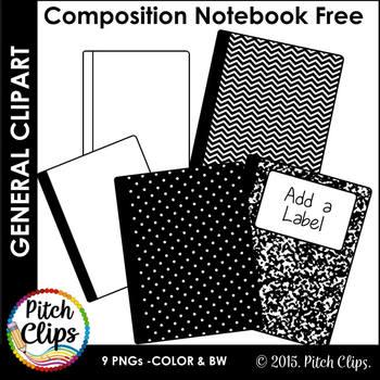 Composition Notebook Clipart (Clip Art).