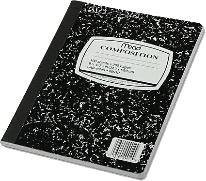 Composition Notebook Png. Mead Book Psd #70816.