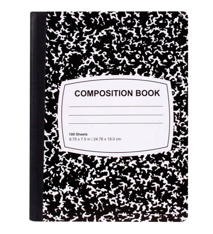 COMPOSITION NOTEBOOKS PACK OF 3.