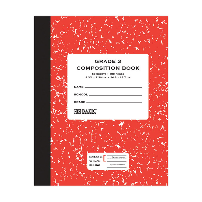BAZIC 50 ct Grade 3 Primary Composition Book.