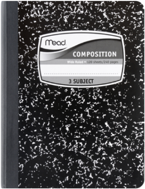 Download HD Composition Notebook Cover Png.