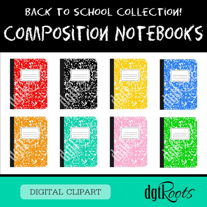 Composition Notebook Clip Art.