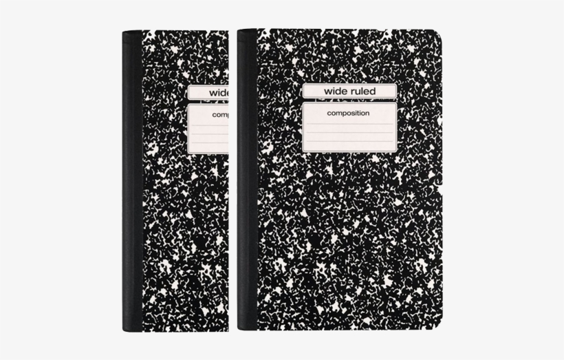 Staples Black Wide Ruled Composition Notebook 2 Pack.