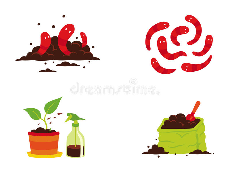 Compost Stock Illustrations.