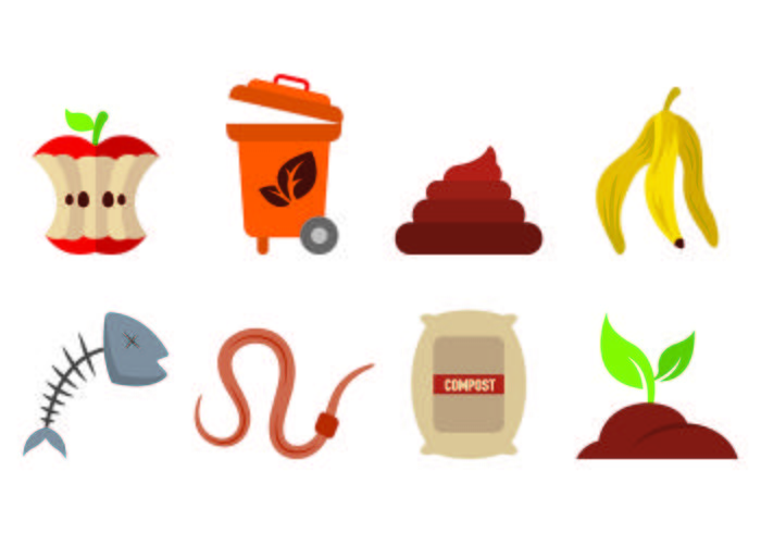 Set Of Compost Icons Vector.