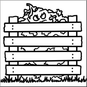 Clip Art: Compost Pile B&W I abcteach.com.