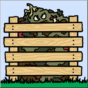 Clip Art: Compost Pile Color I abcteach.com.