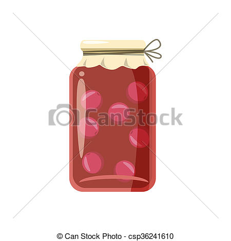 Clipart of Canned fruit compote or jam icon, cartoon style.