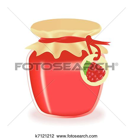 Clipart of Raspberry jam k16123145.
