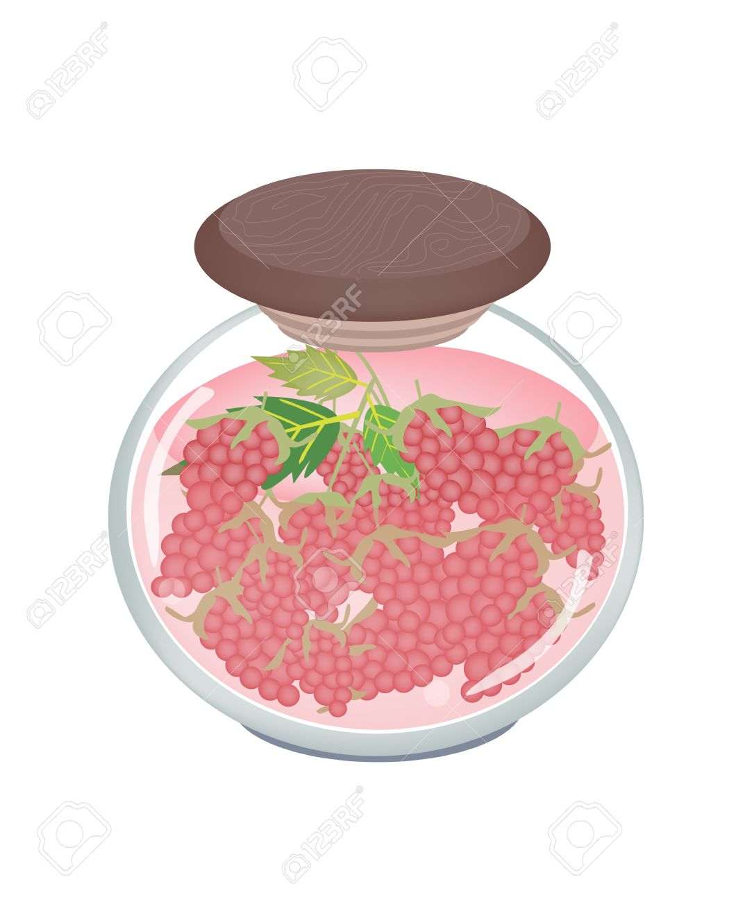 Fruit, An Illustration Of Preserved Raspberries, Raspberry Jam.
