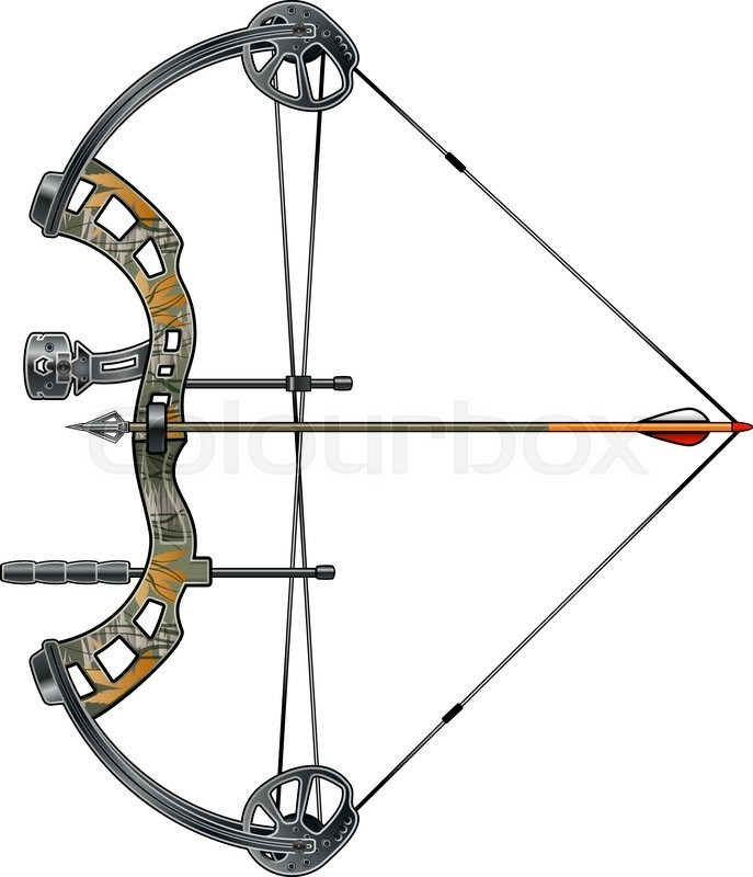 Compound bow and arrow clipart 8 » Clipart Portal.