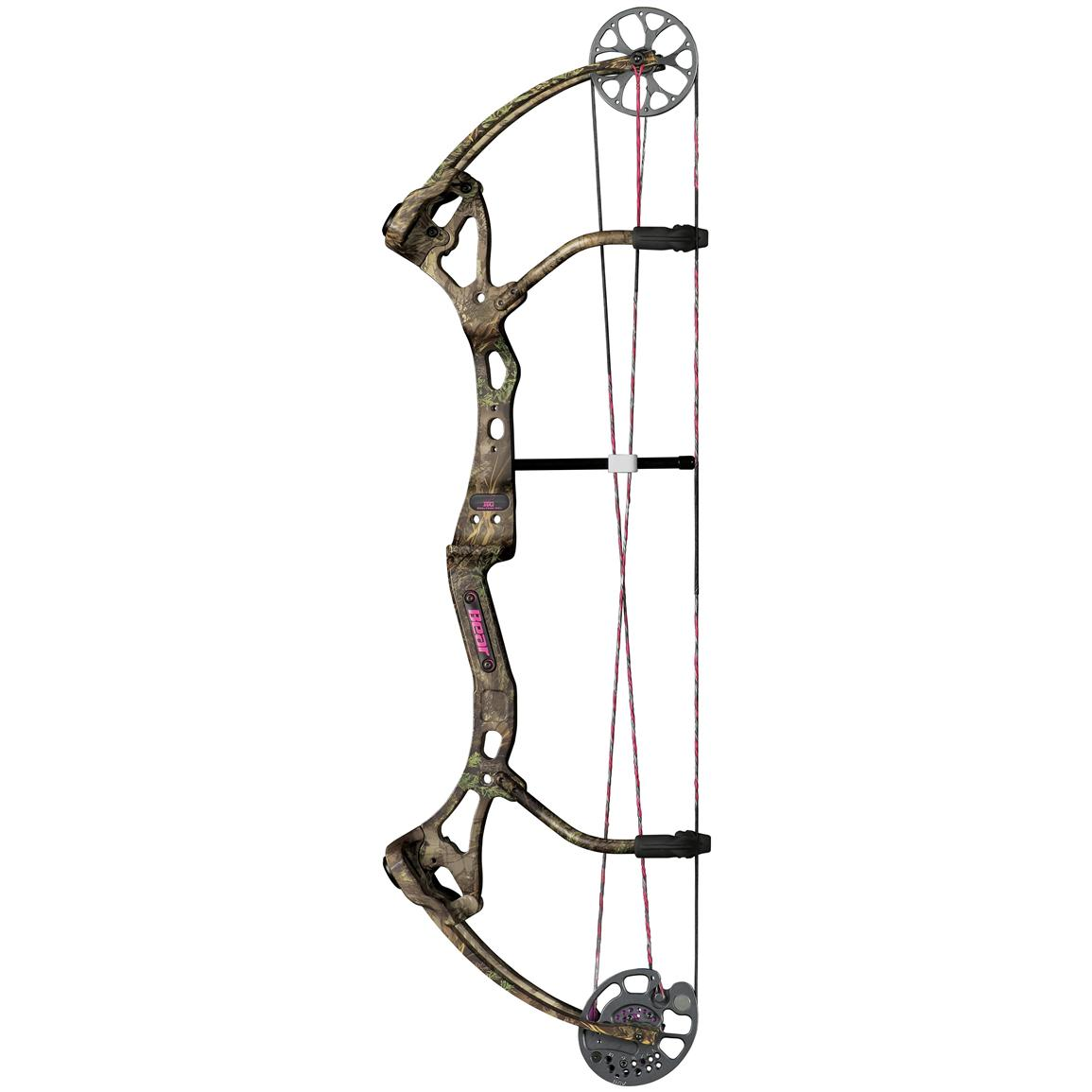 Compound bow and arrow clipart.