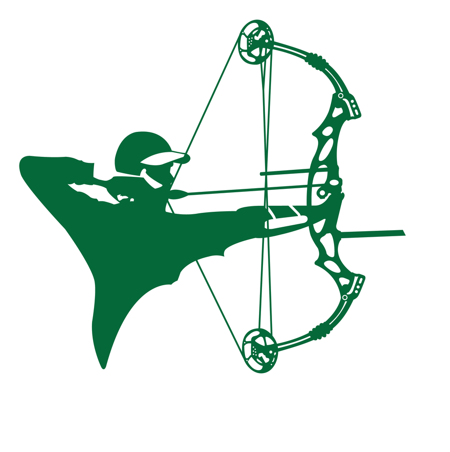 Clipart compound bow.