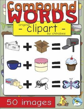 Compound Words Clip Art.