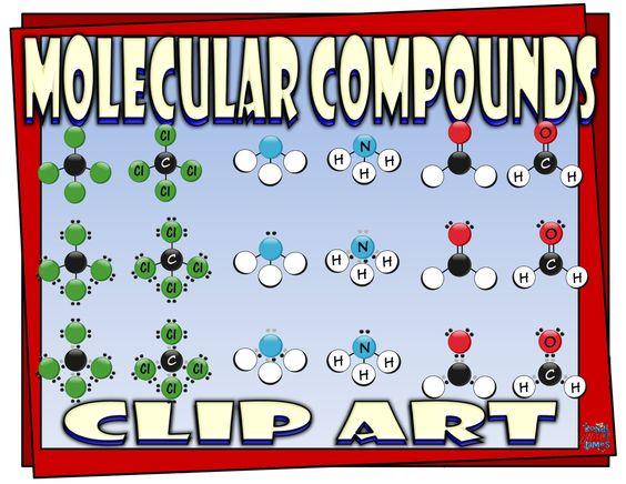 Covalent (molecular) compounds clip art for chemistry #compounds.