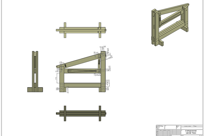 Searched 3d models for Compound Lever Press Functional Model.