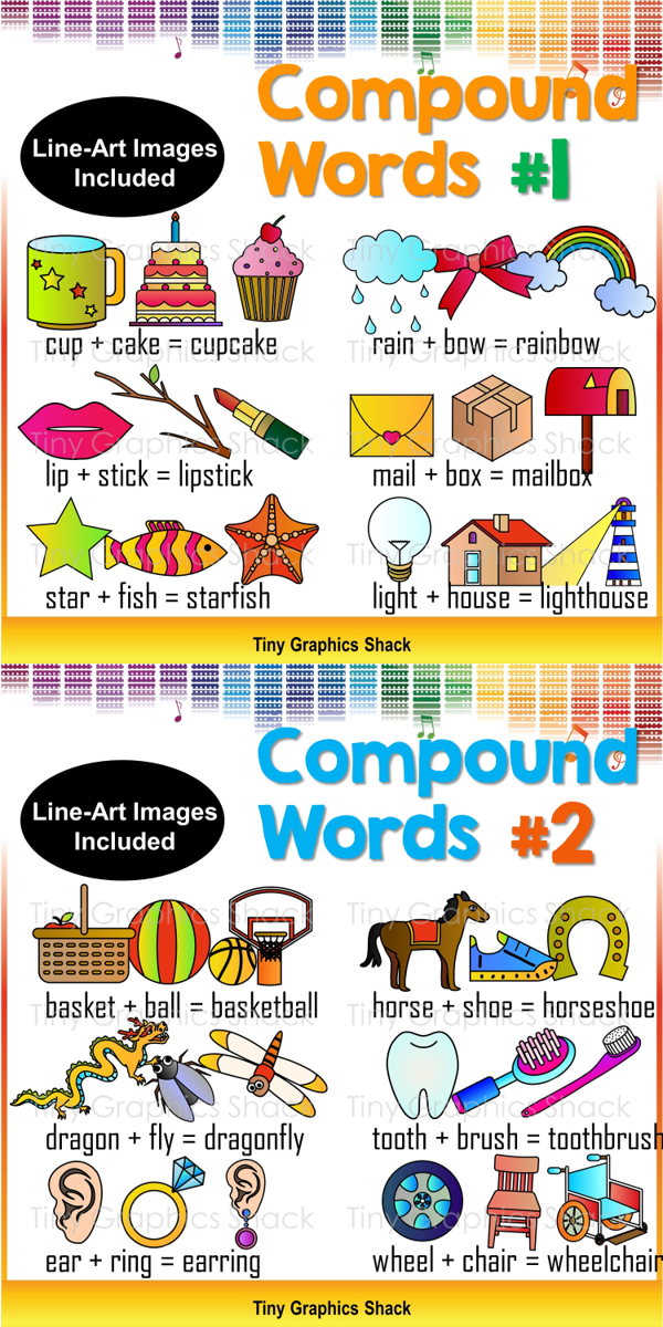 Compound Words Clip Art Set 1.