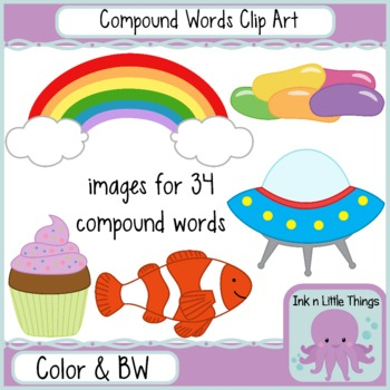 Compound Word Clip Art.