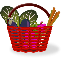 Cesta De La Compra Llena Full Shopping Basket Clipart.