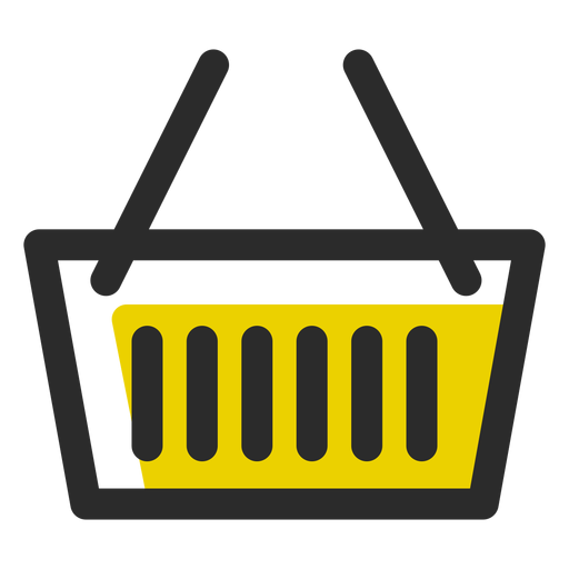 Shopping basket colored stroke icon.