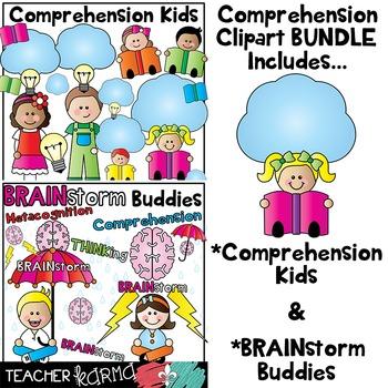 Reading Comprehension Kids Clipart BUNDLE.