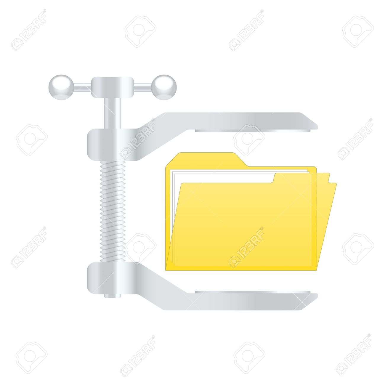 Compress Archive Icon. Royalty Free Cliparts, Vectors, And Stock.