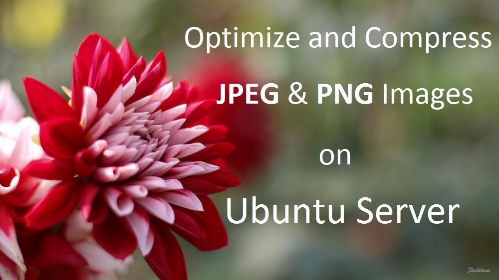 Optimize Compress JPEG, PNG Images on Ubuntu Server [How.
