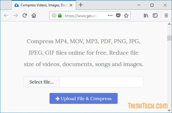 YouCompress : Compress Video, Audio, Image and PDF Files Online.
