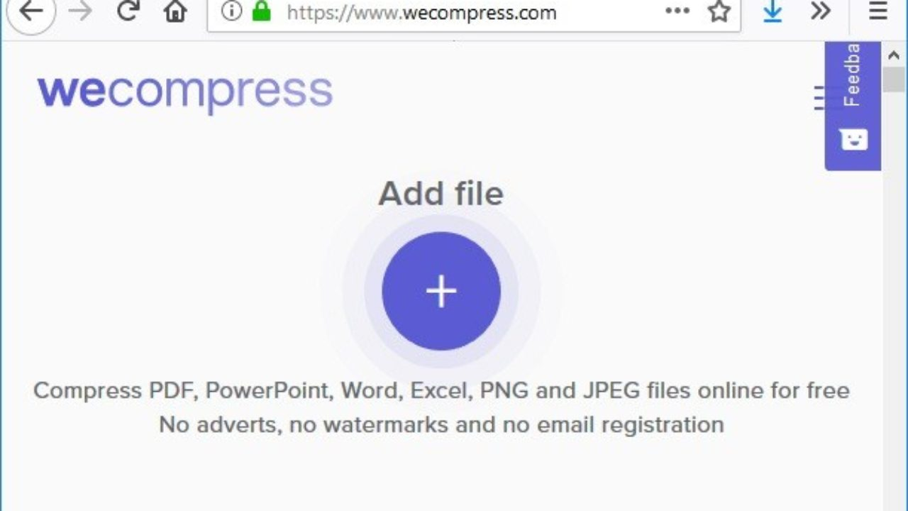WeCompress : Compress PDF, PowerPoint, Word, Excel, PNG & JPEG Files.