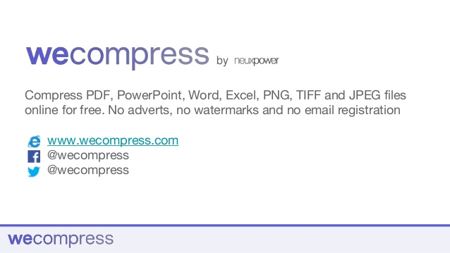 WeCompress Free Online File Compression Tool Press Kit.