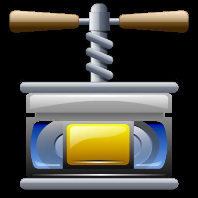 Compress, video icon.