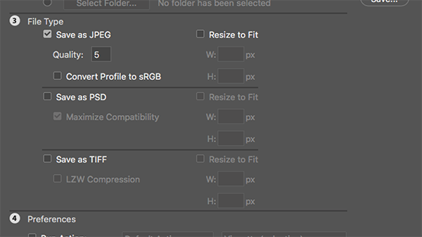 How to batch compress images in Photoshop for faster printing.