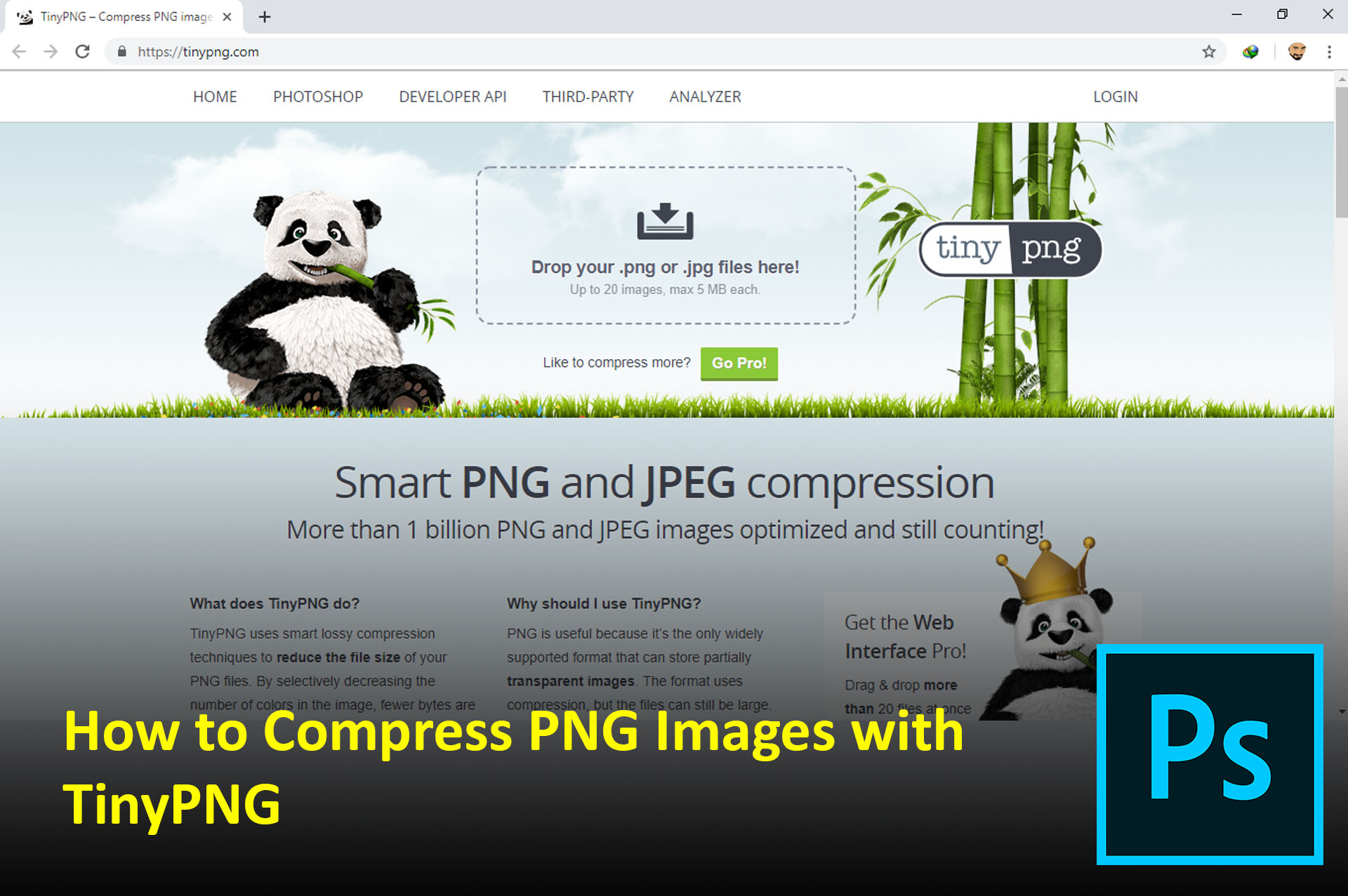 How to Compress PNG Images with TinyPNG.