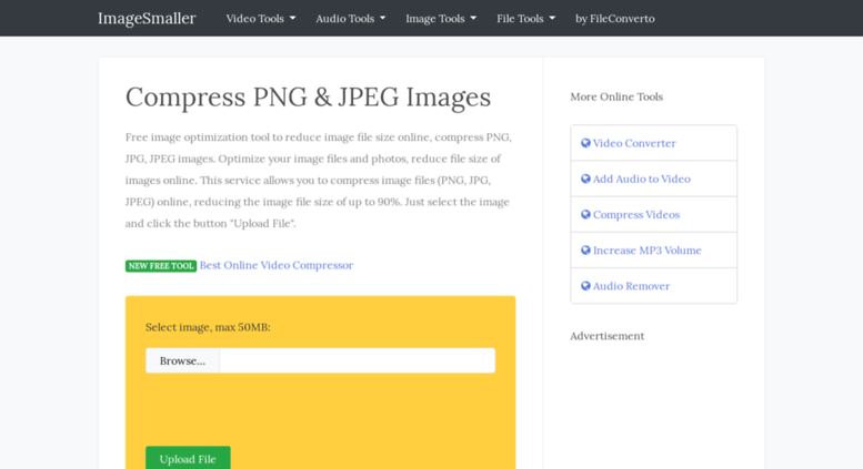 Access imagesmaller.com. Reduce Image File Size, Compress JPEG and.