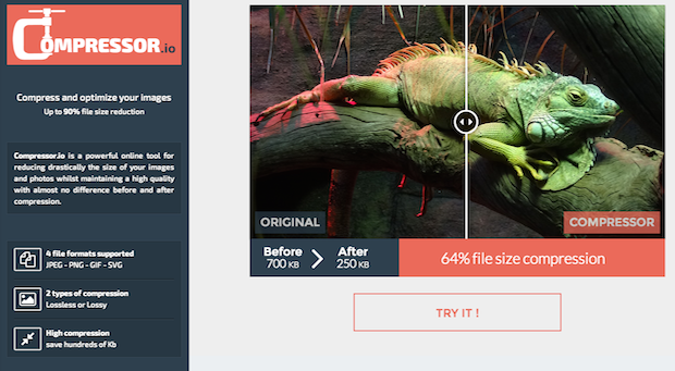 Compressor.io Lets You Shrink Your Image File Size Up to 90% Without.