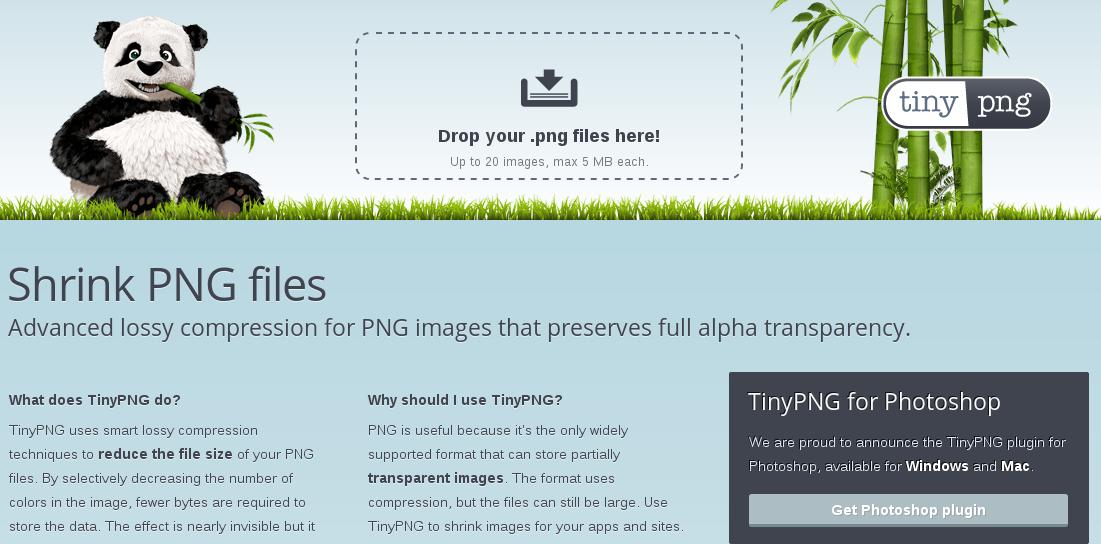 Image optimization tools.
