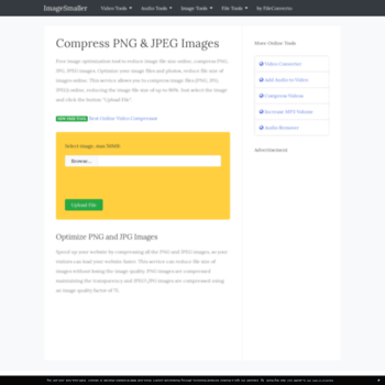 imagesmaller.com at WI. Reduce Image File Size, Compress JPEG and.