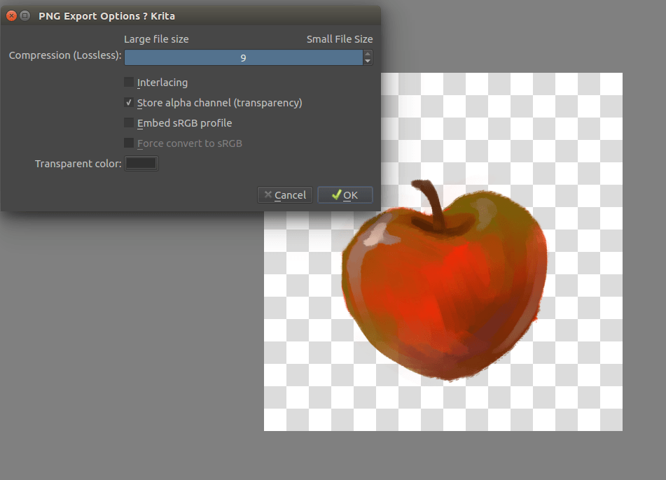 Saving For The Web — Krita Manual version 4.2.0.