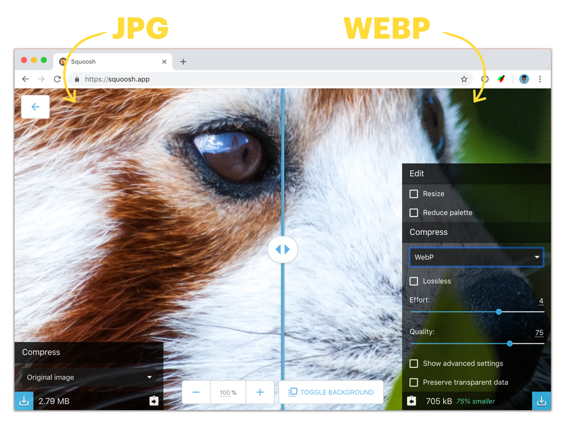 Why and how to use WebP images today.