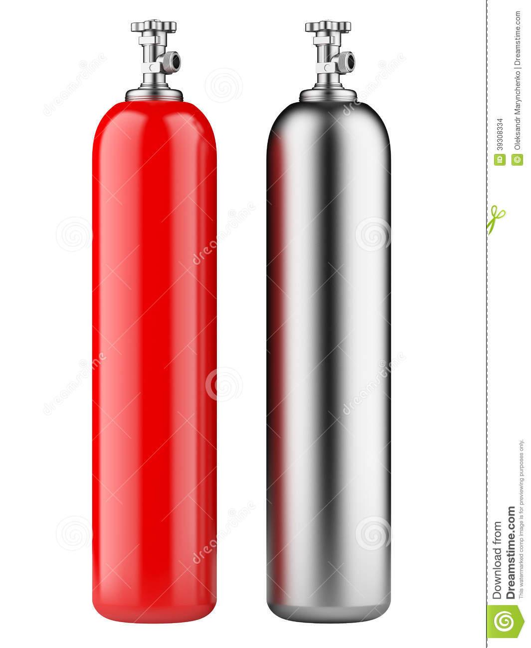 Oxygen gas cylinder clipart.