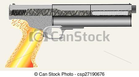 Vectors Illustration of Air pistol.eps.