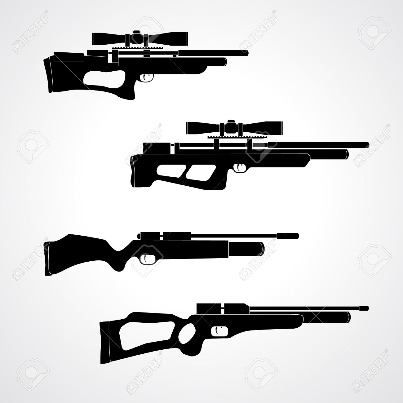 PCP Compressed Air Hunting Rifle. Airguns Carbine. Pneumatic.