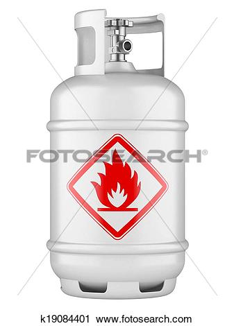 Clipart of Propane cylinders with compressed gas k19084401.